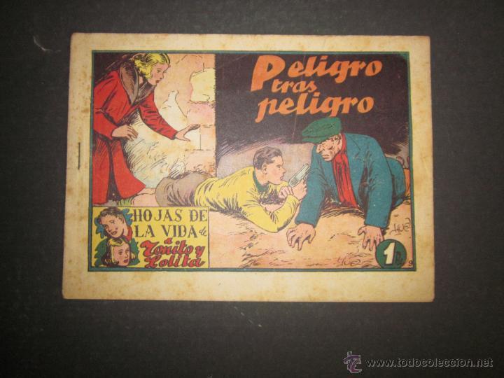 HOJAS DE LA VIDA DE TOÑITO Y LOLITA - NUM 9 -EDICIONES TORAY - DIBUJOS JAIME JUEZ - (COM- 294) (Tebeos y Comics - Toray - Otros)