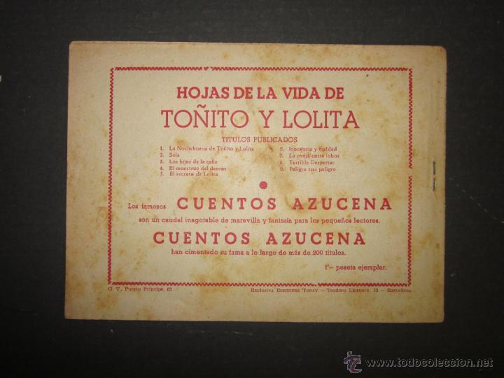 Tebeos: HOJAS DE LA VIDA DE TOÑITO Y LOLITA - NUM 9 -EDICIONES TORAY - DIBUJOS JAIME JUEZ - (COM- 294) - Foto 7 - 46593558