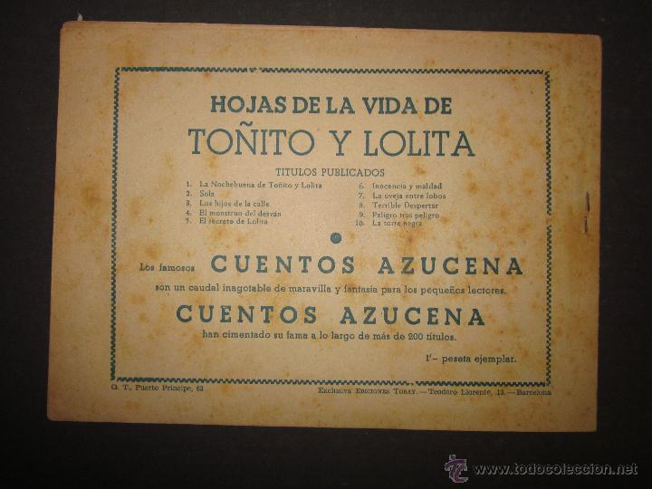 Tebeos: HOJAS DE LA VIDA DE TOÑITO Y LOLITA - NUM 10 -EDICIONES TORAY - DIBUJOS JAIME JUEZ - (COM- 295) - Foto 7 - 46593597