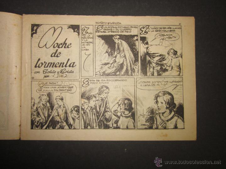 Tebeos: HOJAS DE LA VIDA DE TOÑITO Y LOLITA - NUM 11 -EDICIONES TORAY - DIBUJOS JAIME JUEZ - (COM- 296) - Foto 2 - 46593608