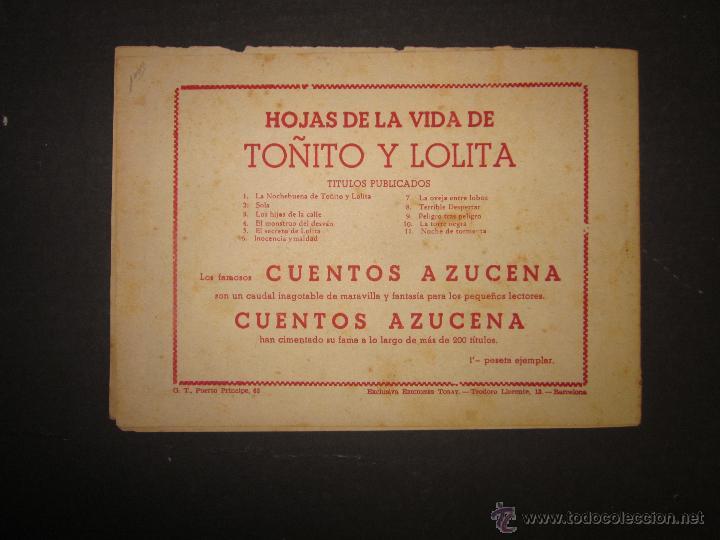 Tebeos: HOJAS DE LA VIDA DE TOÑITO Y LOLITA - NUM 11 -EDICIONES TORAY - DIBUJOS JAIME JUEZ - (COM- 296) - Foto 7 - 46593608
