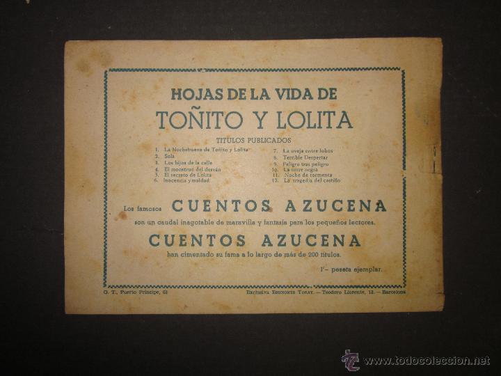 Tebeos: HOJAS DE LA VIDA DE TOÑITO Y LOLITA - NUM 12 -EDICIONES TORAY - DIBUJOS JAIME JUEZ - (COM- 297) - Foto 7 - 46593633