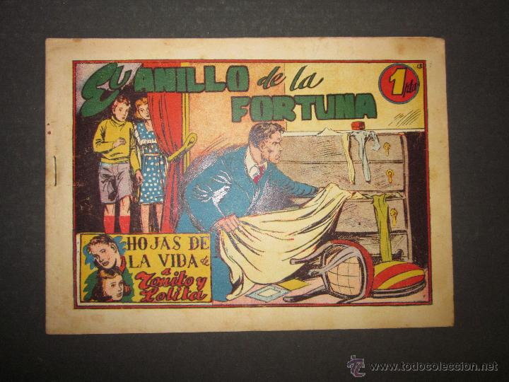 HOJAS DE LA VIDA DE TOÑITO Y LOLITA - NUM 13 -EDICIONES TORAY - DIBUJOS JAIME JUEZ - (COM- 298) (Tebeos y Comics - Toray - Otros)