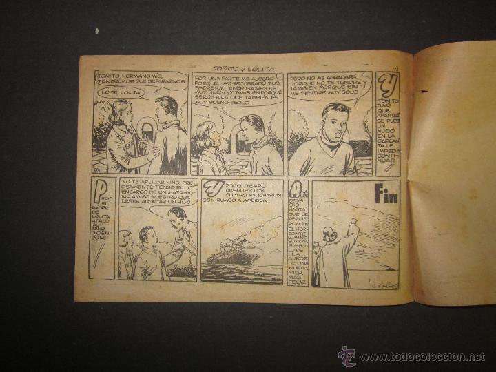 Tebeos: HOJAS DE LA VIDA DE TOÑITO Y LOLITA - NUM 14 -EDICIONES TORAY - DIBUJOS JAIME JUEZ - (COM- 299) - Foto 6 - 46593674