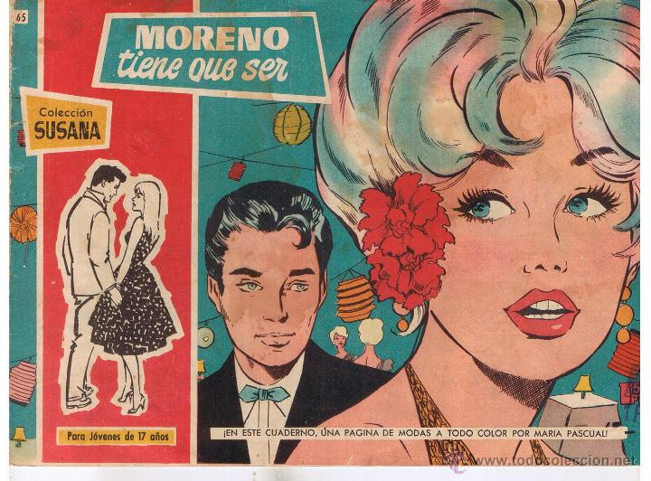 COLECCION SUSANA. Nº 65. MORENO TIENE QUE SER. EDITORIAL TORAY 1959. (RF.C/A26) (Tebeos y Comics - Toray - Susana)