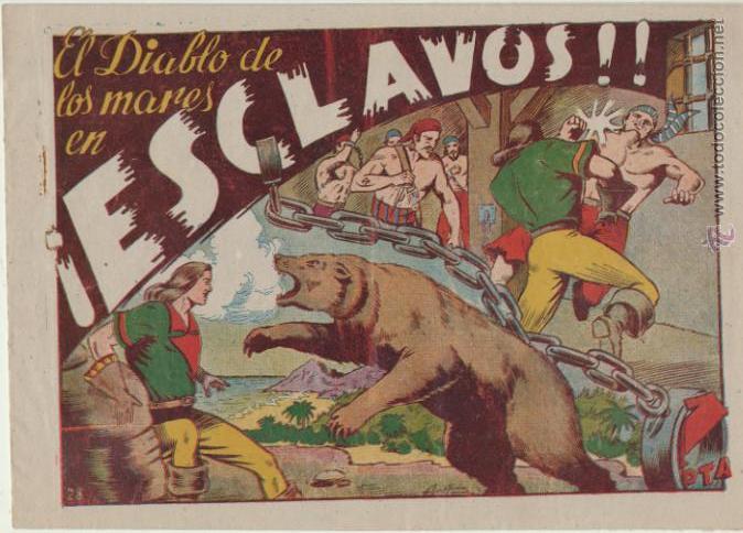 EL DIABLO DE LOS MARES Nº 28. TORAY 1947. (Tebeos y Comics - Toray - Diablo de los Mares)