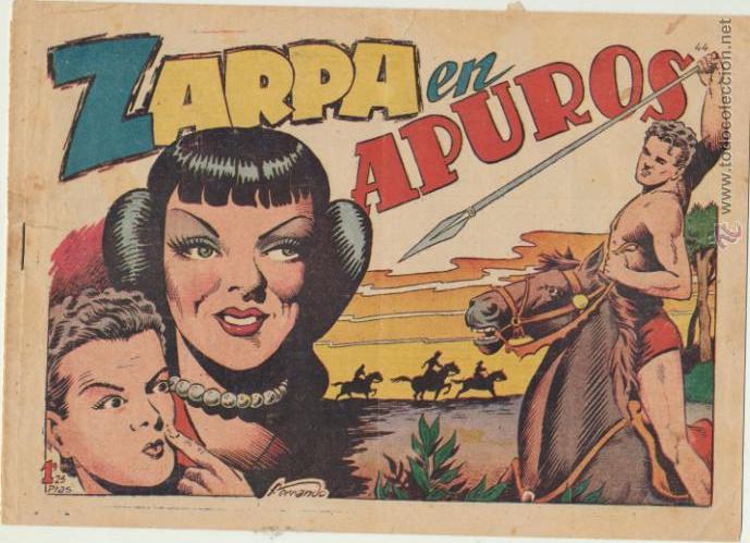 ZARPA DE LEÓN Nº 44. TORAY 1949. (Tebeos y Comics - Toray - Zarpa de León)