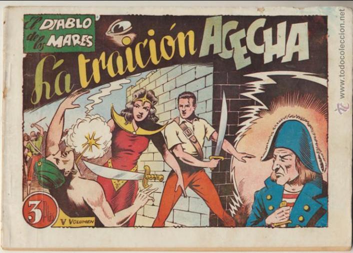 EL DIABLO DE LOS MARES ALBUM Nº 5 (V) TORAY 1949. (Tebeos y Comics - Toray - Diablo de los Mares)