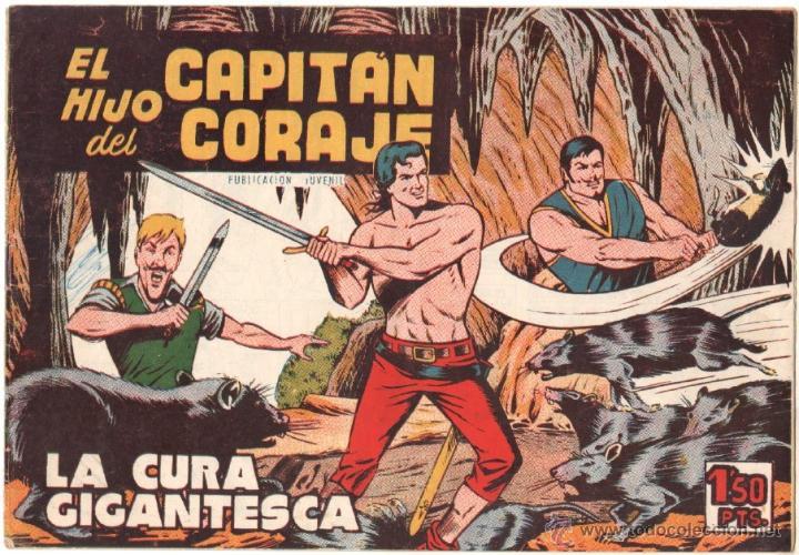 EL HIJO DEL CAPITAN CORAJE Nº 25 EDITORIAL TORAY 1958 ORIGINAL - DIBUJOS GIRALT (Tebeos y Comics - Toray - Otros)
