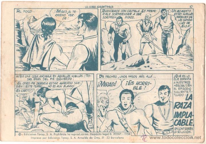 Tebeos: EL HIJO DEL CAPITAN CORAJE Nº 25 EDITORIAL TORAY 1958 ORIGINAL - DIBUJOS GIRALT - Foto 2 - 48017088