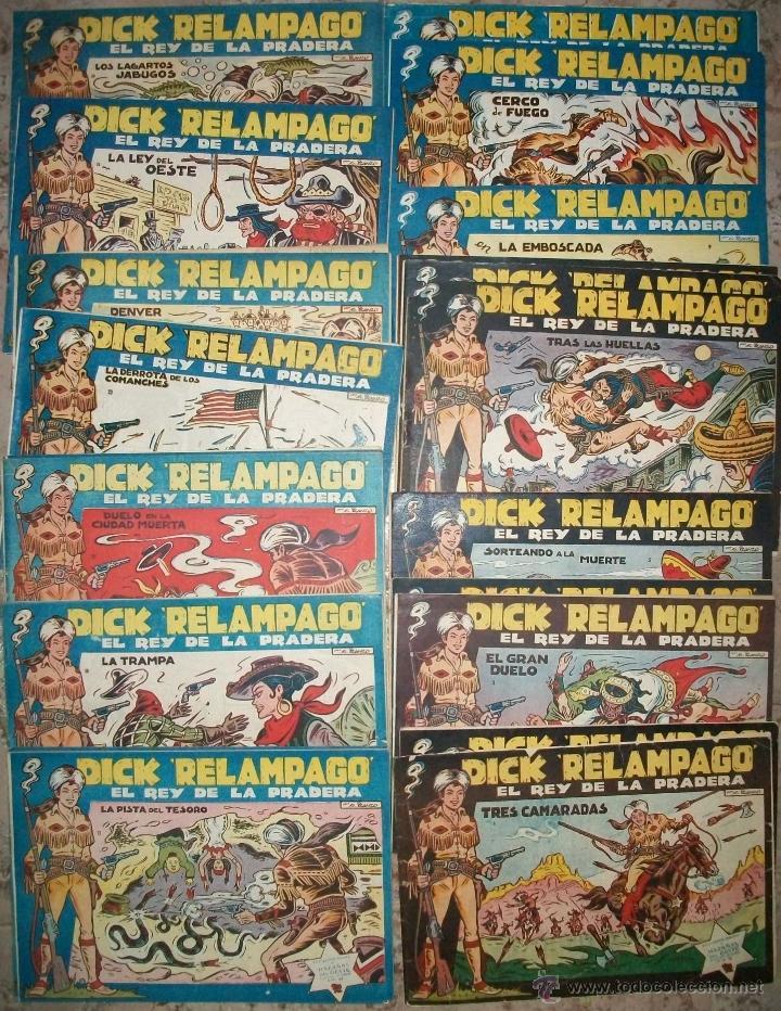 DICK RELAMPAGO (TORAY) COMPLETA 28 NUMEROS (Tebeos y Comics - Toray - Dick Relampago)