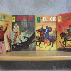 Tebeos: 4 TOMOS HOMBRES FAMOSOS, EL CID, ALI BEY,LIVINGSTONE, EL GRAN CAPITAN. Lote 48338969