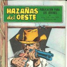 Tebeos: HAZAÑAS DEL OESTE NÚMERO 219 EDICIONES TORAY. Lote 48511959