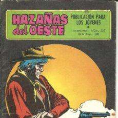 Tebeos: HAZAÑAS DEL OESTE NÚMERO 225 EDICIONES TORAY. Lote 48511989