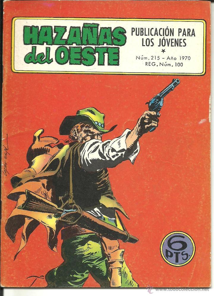 HAZAÑAS DEL OESTE NÚMERO 215 EDICIONES TORAY (Tebeos y Comics - Toray - Hazañas del Oeste)