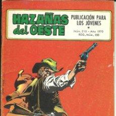 Tebeos: HAZAÑAS DEL OESTE NÚMERO 215 EDICIONES TORAY. Lote 48512043