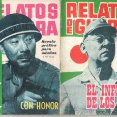 Tebeos: RELATOS DE GUERRA EDICIONES TORAY 1962 -LOTE DE 96 TEBEOS -VER IMAGENES,SE VENDEN SUELTOS, CONSULTAR. Lote 48783276