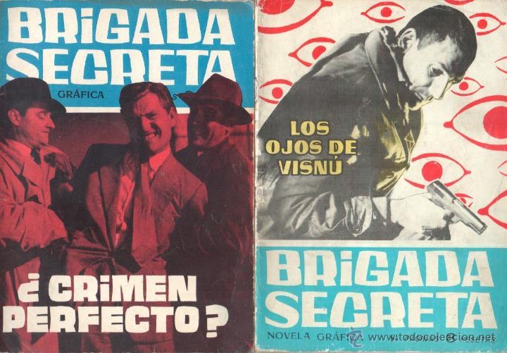 BRIGADA SECRETA - LOTE DE 87 EJEMPLARES , EDICIONES TORAY 1962 (Tebeos y Comics - Toray - Brigada Secreta)