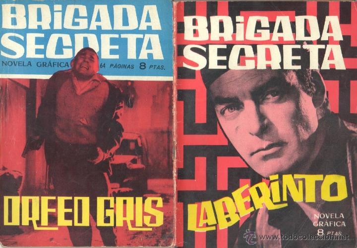 Tebeos: BRIGADA SECRETA - LOTE DE 87 EJEMPLARES , EDICIONES TORAY 1962 - Foto 2 - 48816058