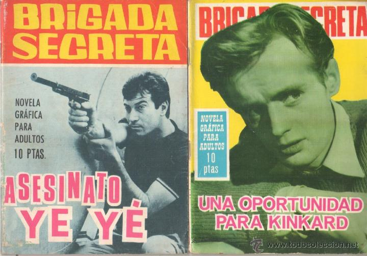 Tebeos: BRIGADA SECRETA - LOTE DE 87 EJEMPLARES , EDICIONES TORAY 1962 - Foto 4 - 48816058