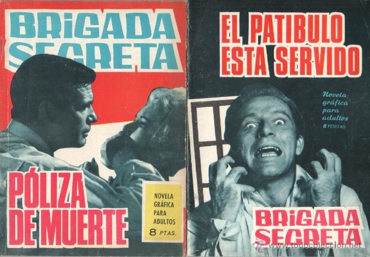 Tebeos: BRIGADA SECRETA - LOTE DE 87 EJEMPLARES , EDICIONES TORAY 1962 - Foto 8 - 48816058