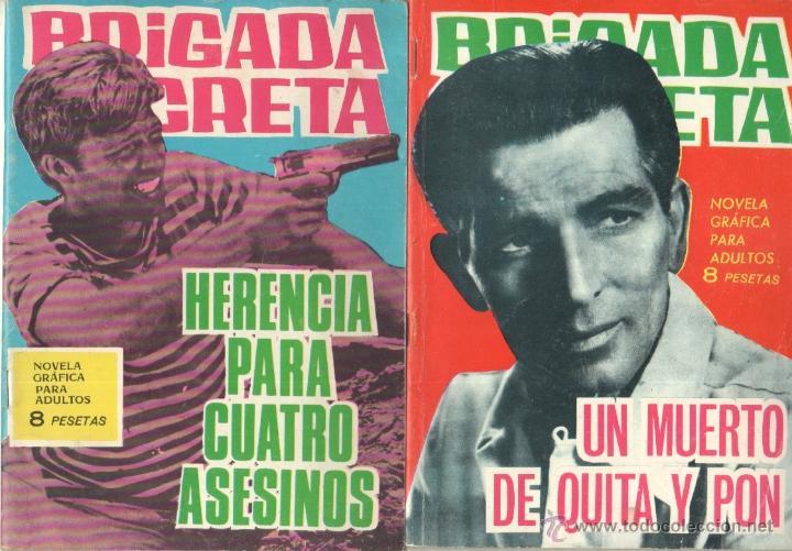 Tebeos: BRIGADA SECRETA - LOTE DE 87 EJEMPLARES , EDICIONES TORAY 1962 - Foto 9 - 48816058