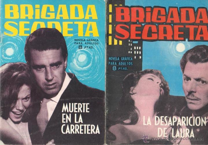 Tebeos: BRIGADA SECRETA - LOTE DE 87 EJEMPLARES , EDICIONES TORAY 1962 - Foto 16 - 48816058