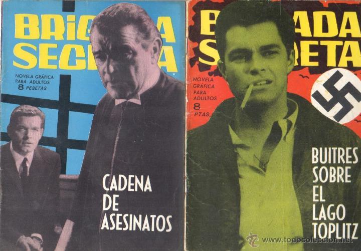 Tebeos: BRIGADA SECRETA - LOTE DE 87 EJEMPLARES , EDICIONES TORAY 1962 - Foto 20 - 48816058