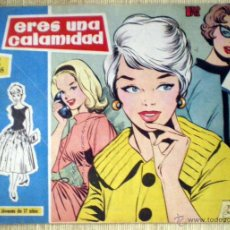 Tebeos: COL. ROSAS BLANCAS Nº 31 ERES UNA CALAMIDAD TORAY 1958 REVISTA JUVENIL CHICAS DIBUJOS MARÍA PASCUAL. Lote 49040547