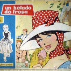 Tebeos: COL. ROSAS BLANCAS Nº 36 UN HELADO DE FRESA TORAY 1958 REVISTA JUVENIL CHICAS DIBUJOS MARÍA PASCUAL. Lote 49040581