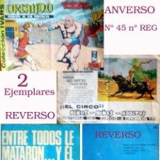 Tebeos: LOTE DE 2 TEBEOS, 1 BRIGADA SECRETA -ENTRE TODOS LA MATARON.- DE 48 PAG. Y OTRO Nº 45 DE ORLANDO1965. Lote 49061560