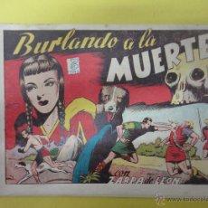 Tebeos: BURLANDO A LA MUERTE. EN POS DEL DESTINO. FURIA SALVAJO. ZARPA DE LEÓN. TORAY. ALBUM IV (ORIGINAL). Lote 49418521