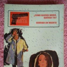 Tebeos: BRIGADA SECRETA 8 EDICIONES TORAY 1982 TOMO CON 2 NUMEROS. Lote 205080960