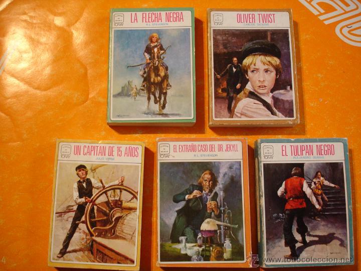 CLASICOS DE BOLSILLO TORAY - LOTE CON Nº 5-6-8-9-10 (Tebeos y Comics - Toray - Otros)