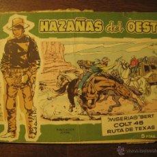 Tebeos: HAZAÑAS DEL OESTE - Nº 6 - EDICIONES TORAY 1959. Lote 49916287