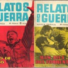 Tebeos: RELATOS DE GUERRA EDITORIAL TORAY LOTE AUMENTADO A 189 EJEMPLARES EN MUY BUEN ESTADO GENERAL. Lote 50129040