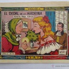 Tebeos: GRACIELA , NUMERO70 , EL DEDAL DE LA MADRINA , MENENDEZ - CURTO. Lote 51235071