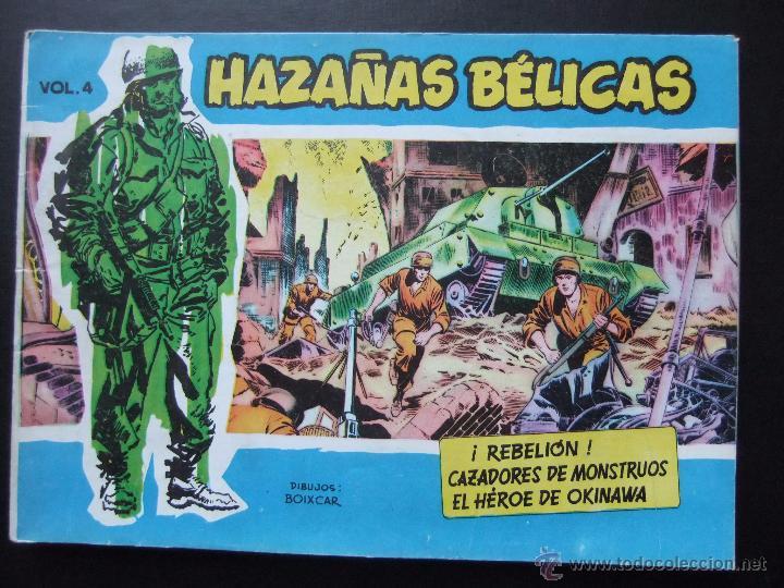 HAZAÑAS BELICAS SERIE AZUL VOL.4 EDICIONES TORAY 1957 ORIGINAL 1ª EDICION (Tebeos y Comics - Toray - Hazañas Bélicas)