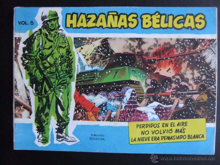 HAZAÑAS BELICAS SERIE AZUL VOL.8 EDICIONES TORAY 1957 ORIGINAL 1ª EDICION (Tebeos y Comics - Toray - Hazañas Bélicas)