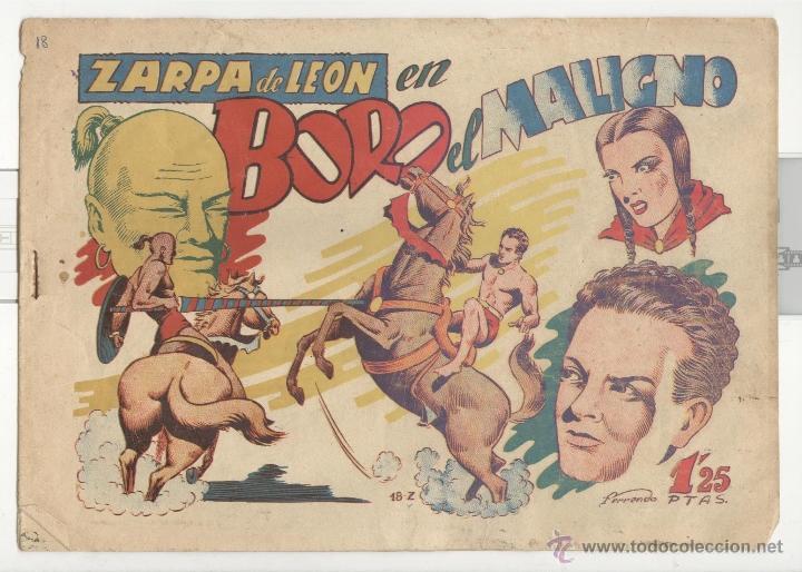 TORAY.EDICIÓN ORIGINAL . ZARPA DE LEON 18 . BORO EL MALIGNO (Tebeos y Comics - Toray - Zarpa de León)