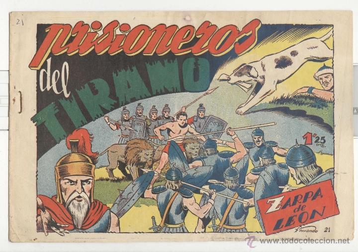 TORAY.EDICIÓN ORIGINAL . ZARPA DE LEON 21 . PRISIONEROS DEL TIRANO (Tebeos y Comics - Toray - Zarpa de León)