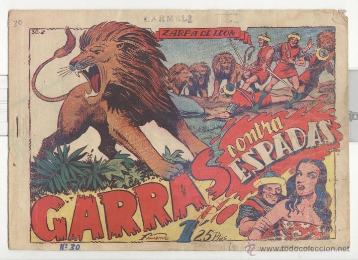 TORAY.EDICIÓN ORIGINAL . ZARPA DE LEON 30 . GARRAS CONTRA ESPADAS (Tebeos y Comics - Toray - Zarpa de León)
