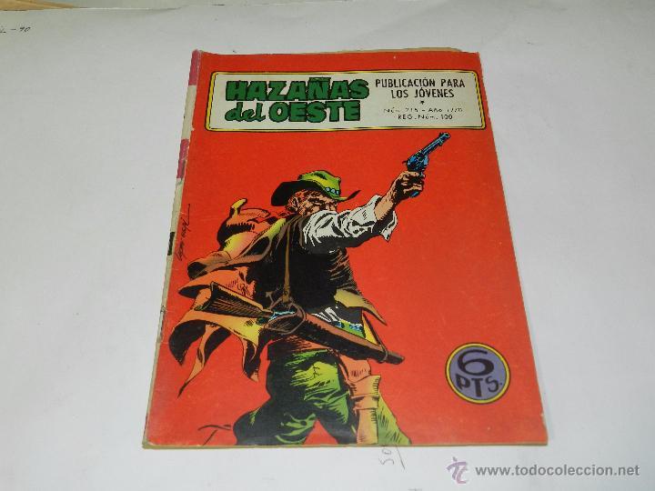 (M4) HAZAÑAS DEL OESTE NUM 215 , EDC TORAY, SEÑALES DE USO (Tebeos y Comics - Toray - Hazañas del Oeste)