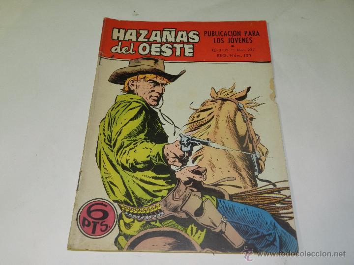 (M4) HAZAÑAS DEL OESTE NUM 237 , EDC TORAY, SEÑALES DE USO (Tebeos y Comics - Toray - Hazañas del Oeste)