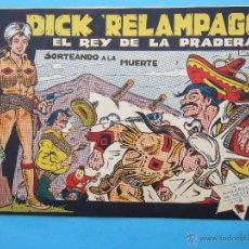 BDs: DICK RELAMPAGO , NUMERO 61 , IRANZO - EDICIONES TORAY , 0RIGINAL. Lote 52598784