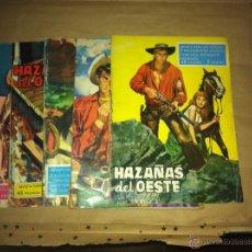Tebeos: HAZAÑAS DEL OESTE - LOTE DE 5 REVISTAS. Lote 52830397