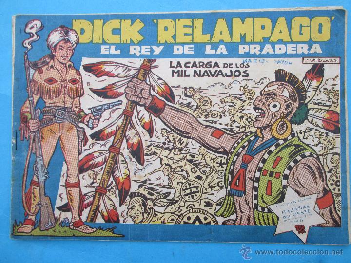 DICK RELAMPAGO , NUMERO 15 EL REY DE LA PRADERA , TORAY 1961 IRANZO (Tebeos y Comics - Toray - Dick Relampago)