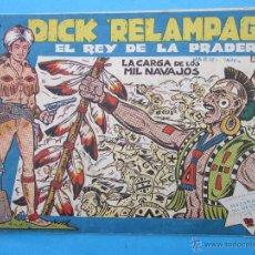 Tebeos: DICK RELAMPAGO , NUMERO 15 EL REY DE LA PRADERA , TORAY 1961 IRANZO. Lote 52867354