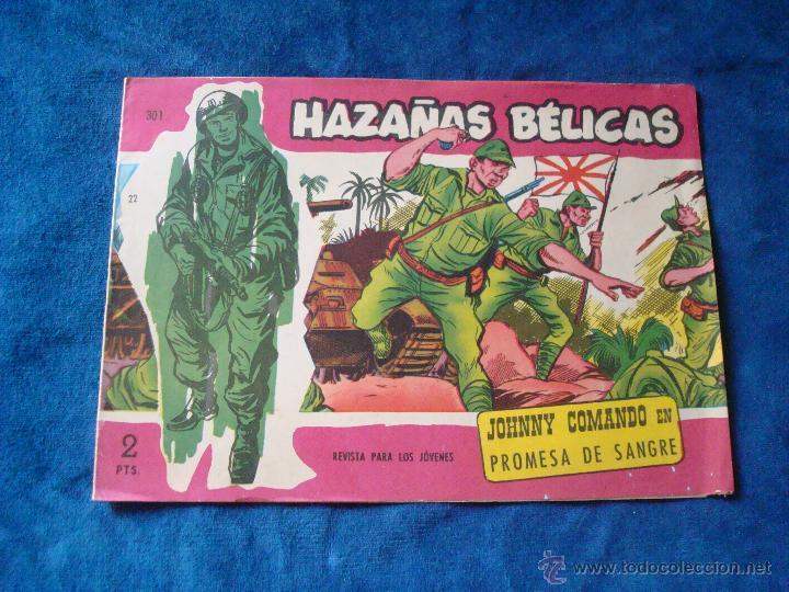 HAZAÑAS BELICAS SERIE ROJA Nº 301 TORAY 1958 (Tebeos y Comics - Toray - Hazañas Bélicas)