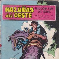 Tebeos: COMIC COLECCION HAZAÑAS DEL OESTE Nº 206. Lote 54023386